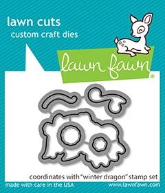 Lawn Fawn winter dragon - lawn cuts