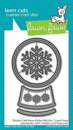 Lawn Fawn shutter card snow globe add-on