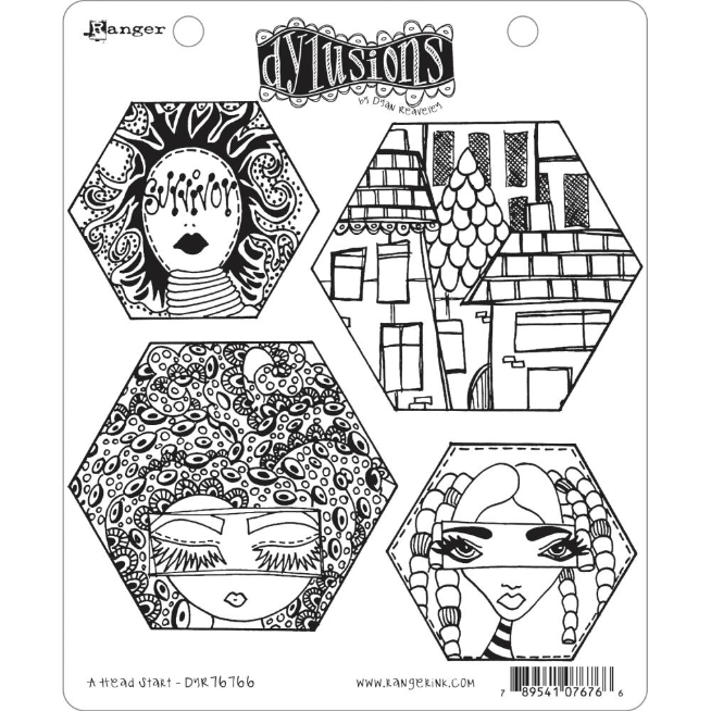 Dyan Reaveley's Dylusions Cling Stamp Collections 8.5X7 A Head Start