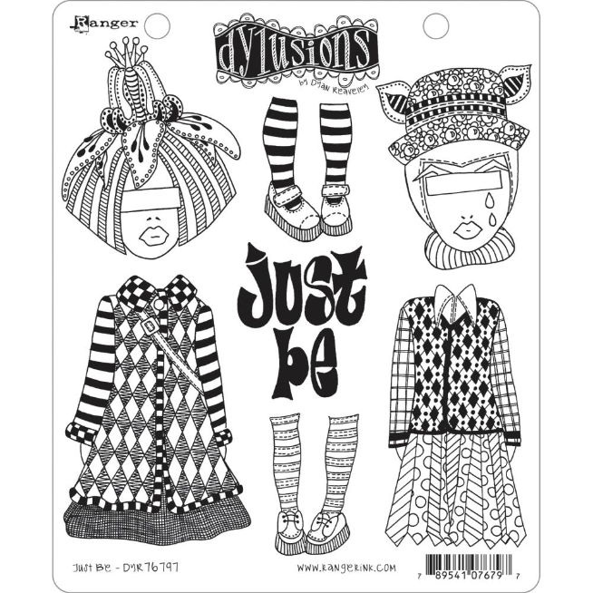 Dyan Reaveley's Dylusions Cling Stamp Collections 8.5X7 Just Be