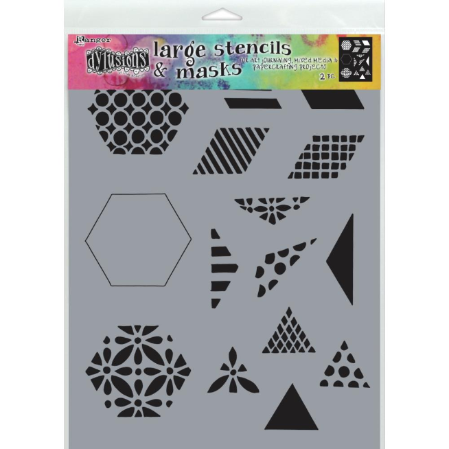 Dyan Reaveley's Dylusions Stencils 9X12 1.5 Quilt