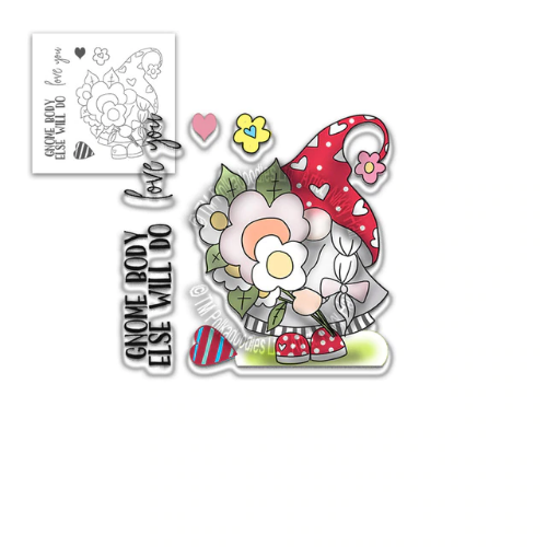 Polkadoodles Gnome Body Else Will Do Clear Stamp