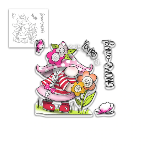 Polkadoodles You're Gnome Azing Clear Stamp