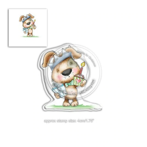 Polkadoodles Scruff Birthday Clear Stamp