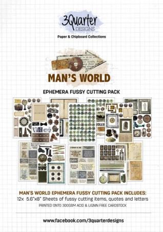 3Quarter Designs Man's World Ephemera