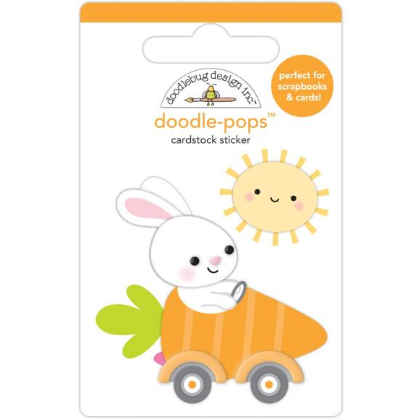 Doodlebug Doodle-Pops 3D Stickers Bunny I'm Home