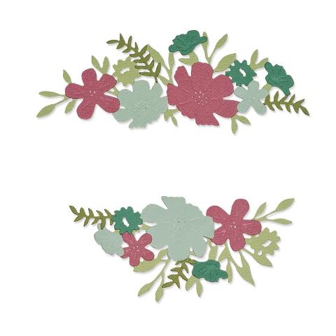 Sizzix Thinlits Die Set 12PK - Wild Blossom Borders
