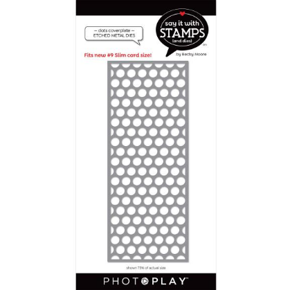 PhotoPlay Say It With Stamps Die #9 Dots Coverplate