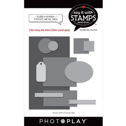 PhotoPlay Say It With Stamps Die Set #6 Build A Window