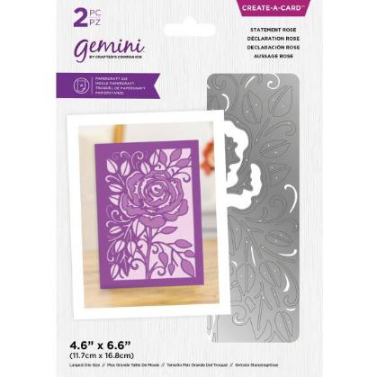 Crafter's Companion Gemini Create-A-Card Die Statement Rose