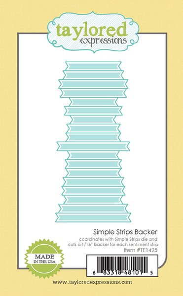 Taylored Expressions Simple Strips Backer Die