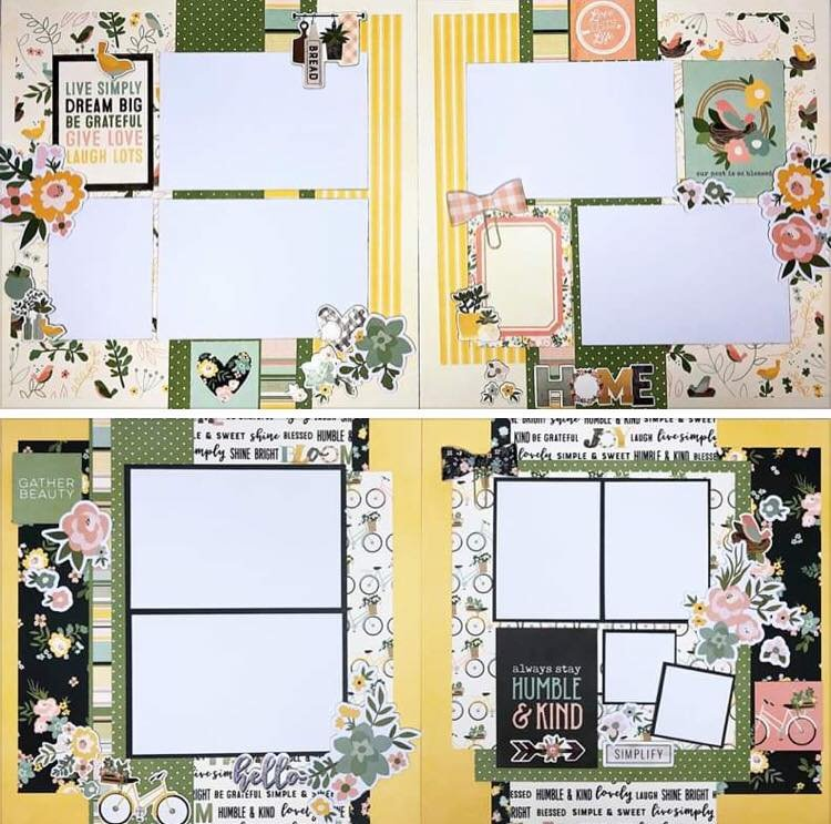 Simple Stories Spring Farmhouse Layout Kits