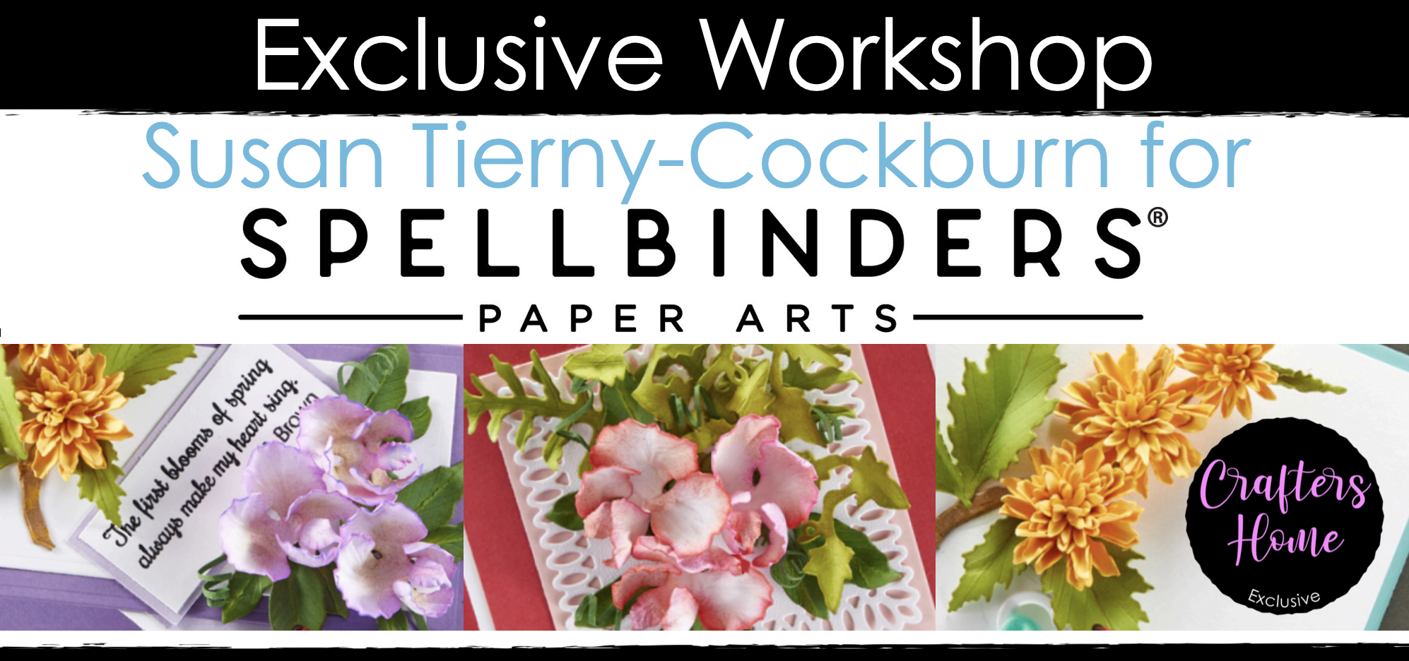 Spellbinders exclusive Fanciful Flowers class with Susan Tierny-Cockburn SOLD OUT