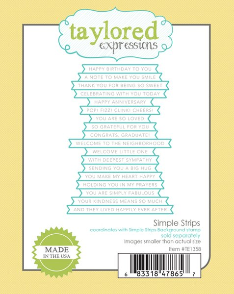 Taylored Expressions Simple Strips Die