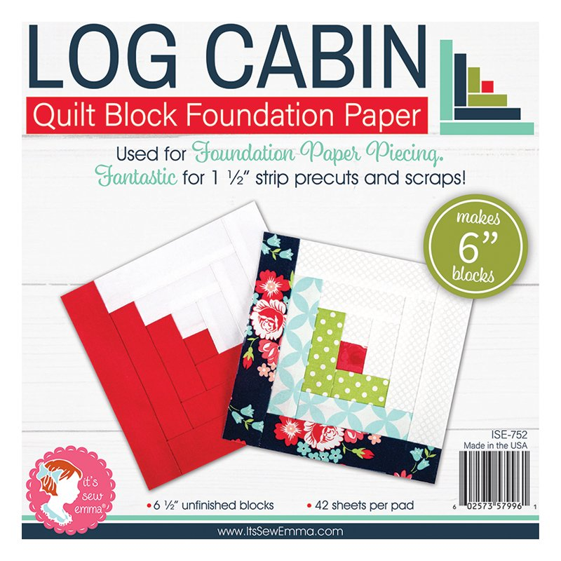 ISE 752   6 Log Cabin Foundation Paper Its Sew Emma