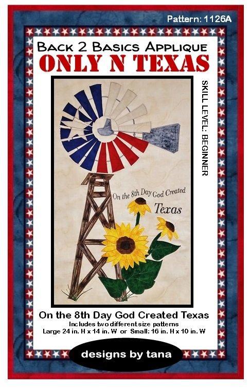 1126K  On the 8th Day God  Created Texas  Fabric Kit