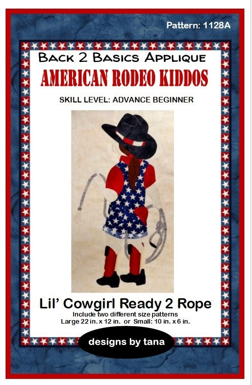 1128K Lil' Cowgirl Ready 2 Rope  Fabric Kit Only