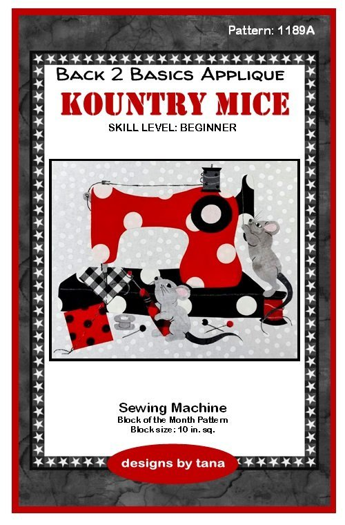 1189K Kountry Mice Sewing Machine Fabric Kit only