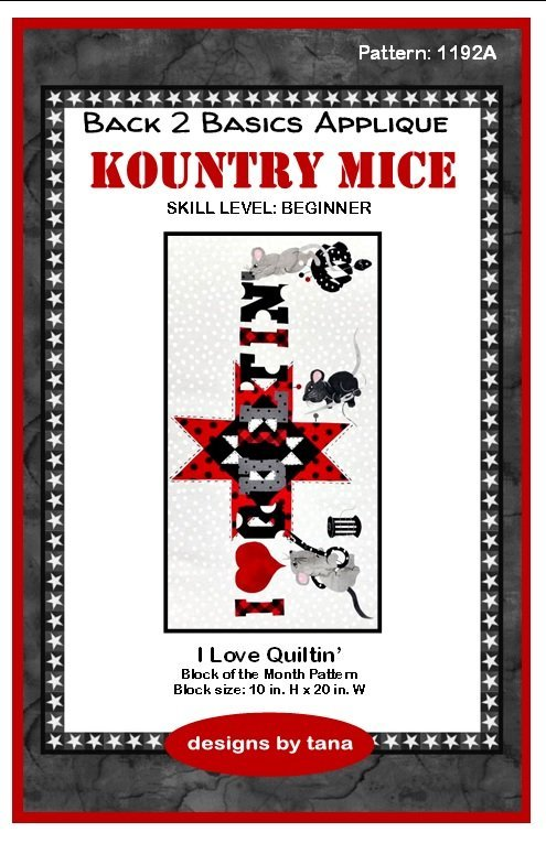 1192K Kountry Mice I Love Quiltin Fabric Kit Only