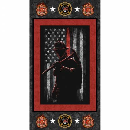 # 1195-FF   Fire Fighters Panel 22in x 44in
