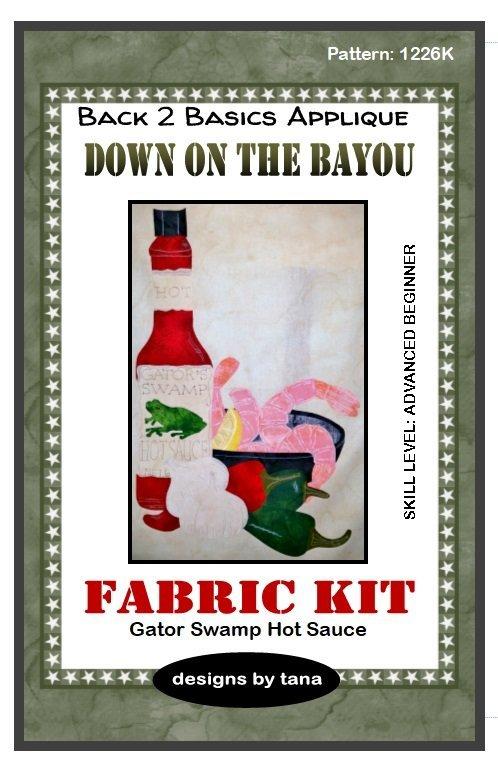 1226F Gator Swamp Hot Sauce  Fabric Kit only