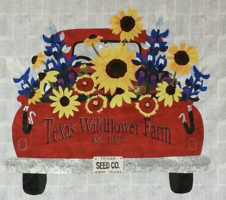 1292K Texas Wildflower Farm Truck Fabric Kit