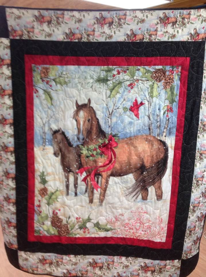 i kessi put it the horse today on binding luann quilt