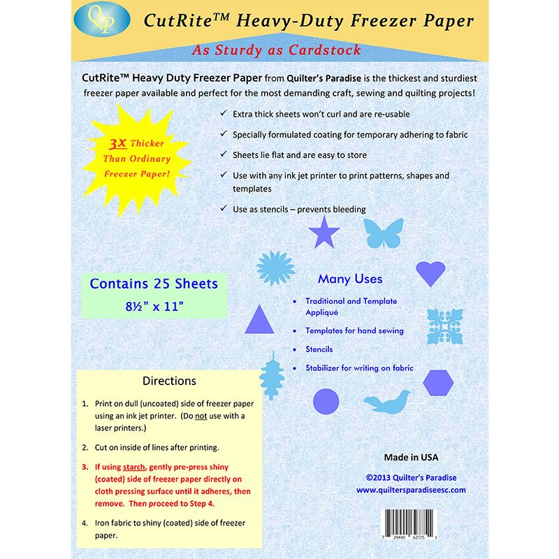 27367  Cutrite Heavy Duty Freezer Paper