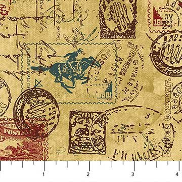 Pony Express 21831-34 Allover Stamps/Stationary Tan