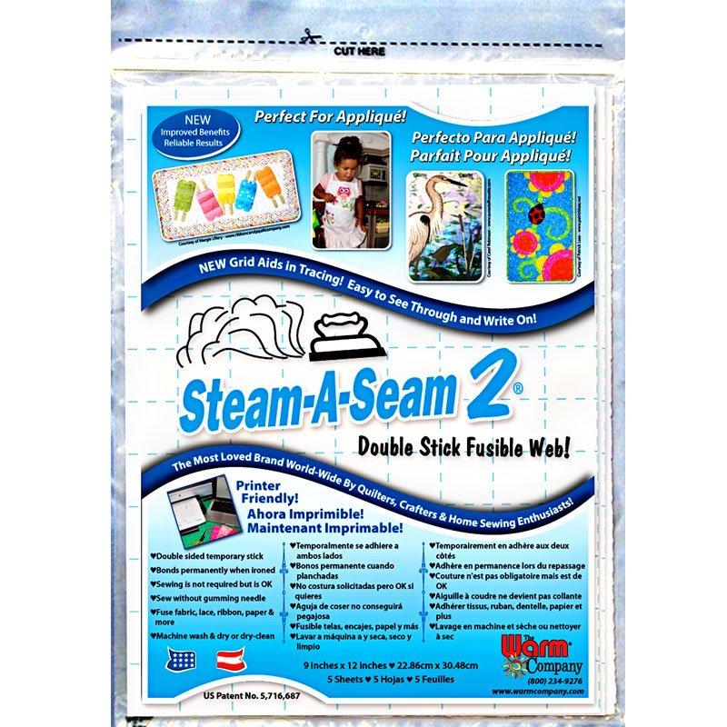 5517  steam a seam 2  9 x 12 sheets pkg