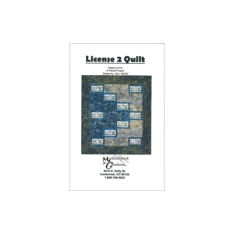 License to Quilt  #415