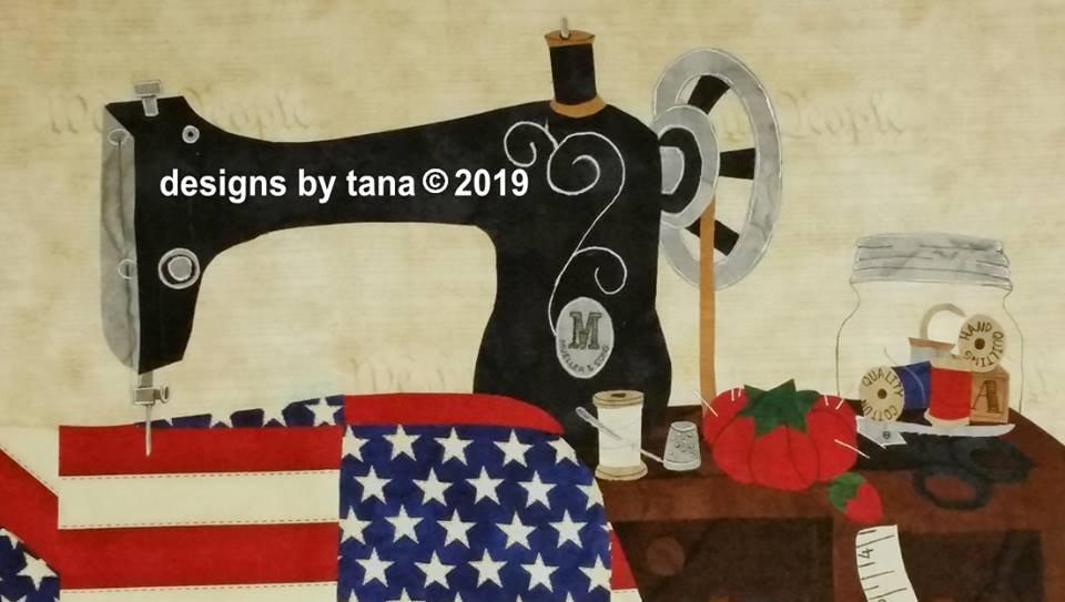 1290K Americana Vintage Sewing Machine Fabric Kit