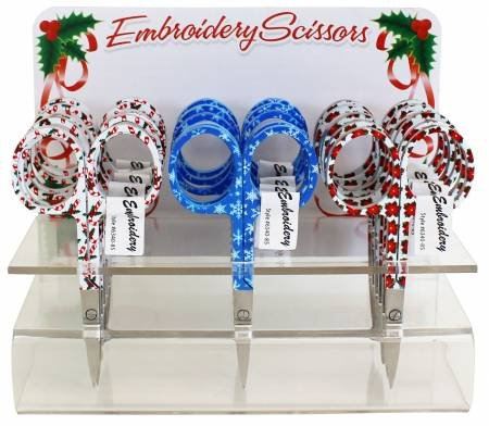 Holiday Scissors Embroidery
