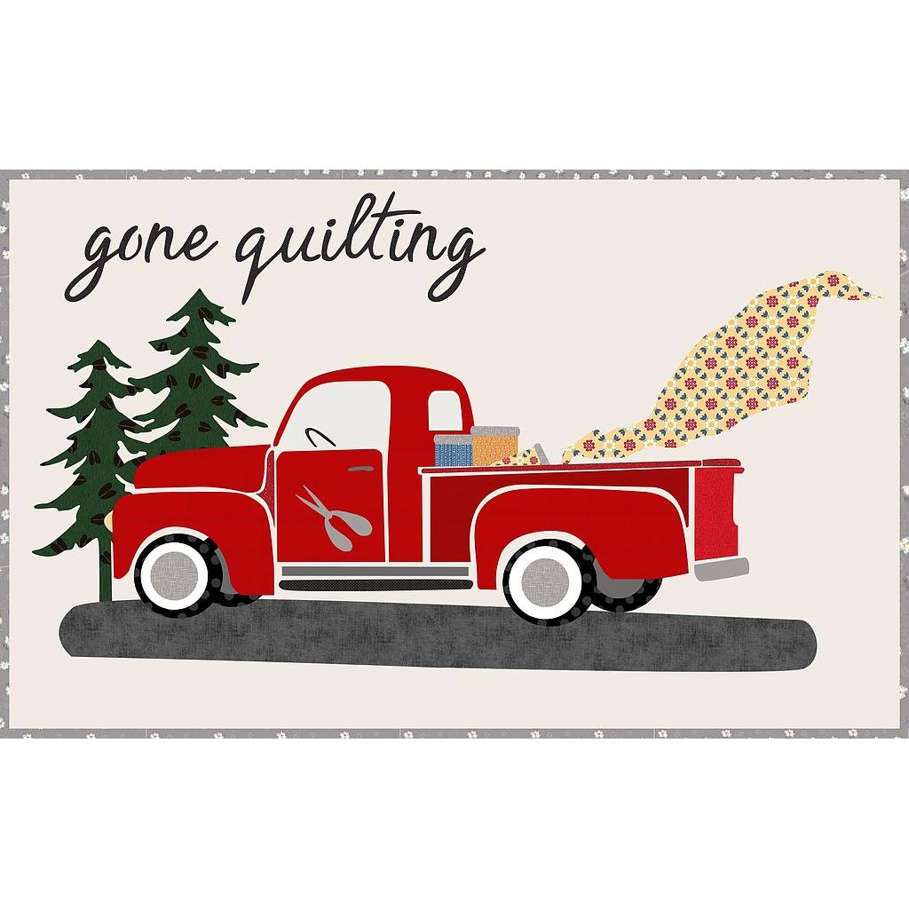 04062019  Gone Quilting - Firehouse Red