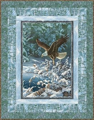 Winter Whispers  Eagle Panel Quilt Kit