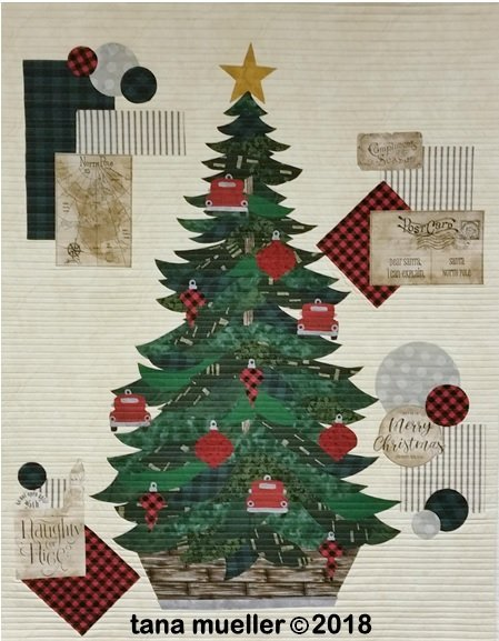 1279WK  Christmas Collage Fabric Kit