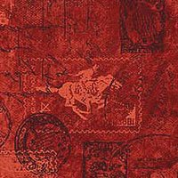 Pony Express 21835 24 Allover Stamps/Stationary Red