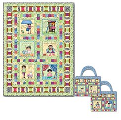 Fabric Follies Girls    This kit includes everything you need to make the top of the Fabric Follies Quilt, designed by Sandra Hatch and Connie Rand. The project uses the panel, plus eleven other Quilting Treasures designs from this collection by Lesli Moa