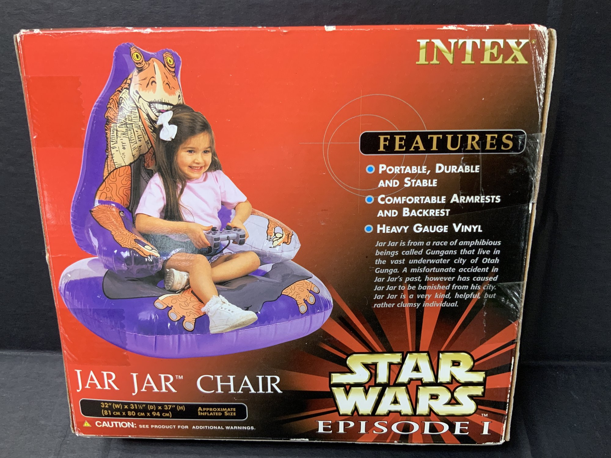 Intex Star Wars Episode I Jar Jar Inflatable Chair