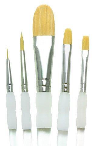 Soft Grip Short Handle Brush Set- 5 Pc Starter