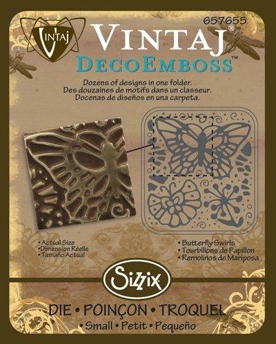 Sizzix DecoEmboss Die - Butterfly Swirls by Vintaj