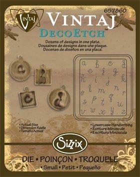 Sizzix DecoEtch Die - Lowercase Handwriting by Vintaj