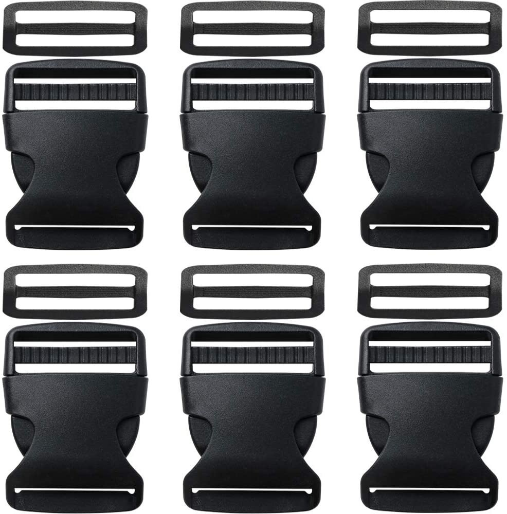 1.5 SIDE RELEASE PLASTIC BUCKLE BLACK
