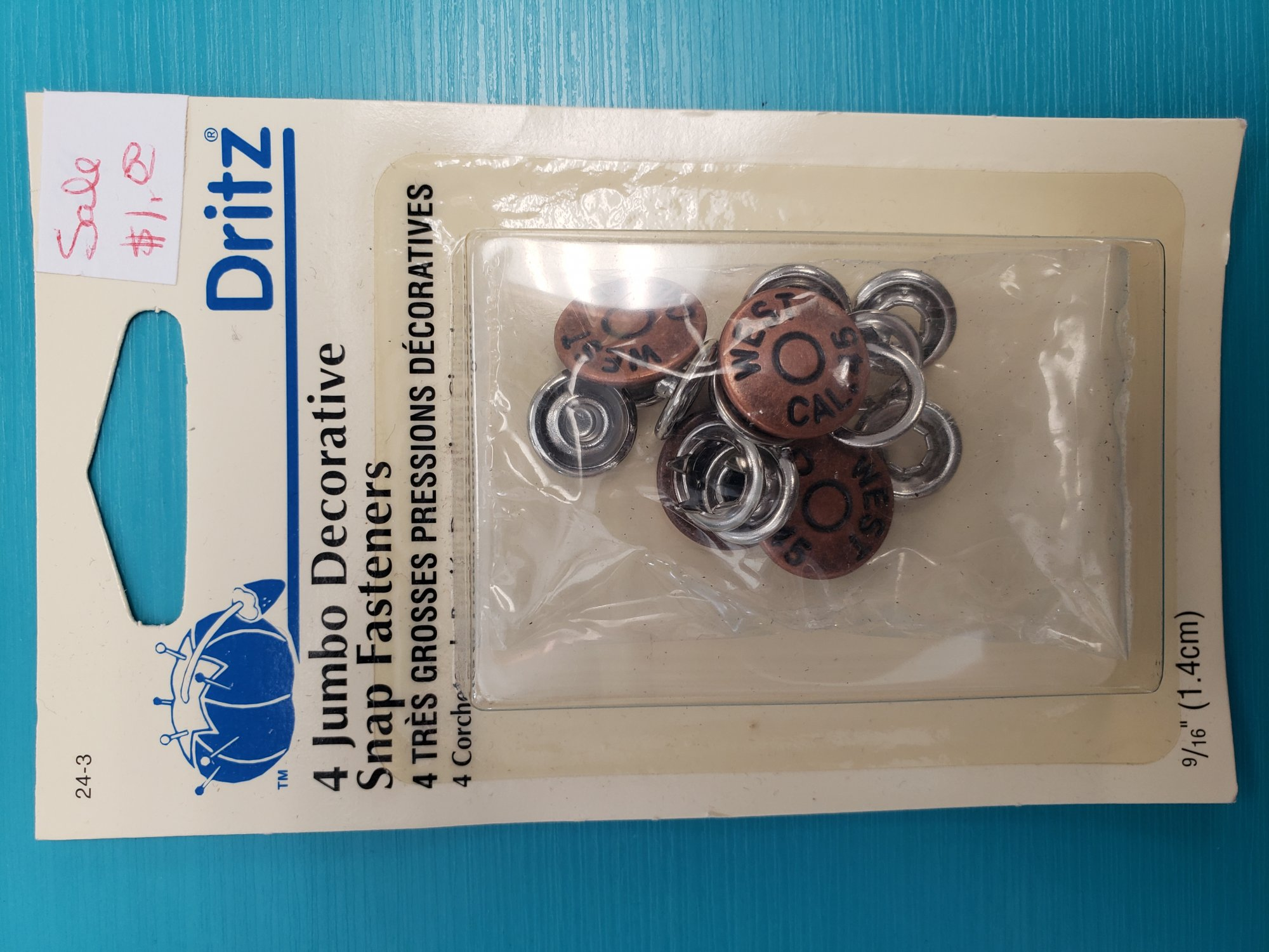4 JUMBO DECORATIVE SNAP FASTENERS