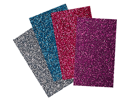 BROTHER IRON ON TRANSFER GLITTER SHEETS- BRIGHTS