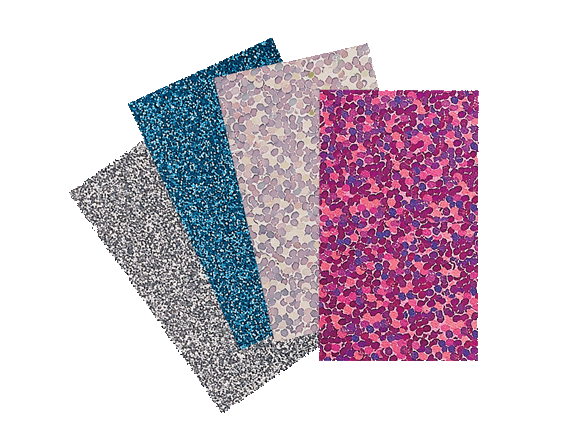 BROTHER IRON ON TRANSFER SHEETS SAMPLE PACK: GLITTER/HOLOGRAPHIC