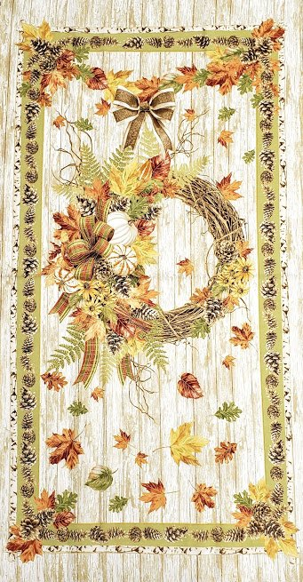 FALL WREATH PANEL CS-0007P