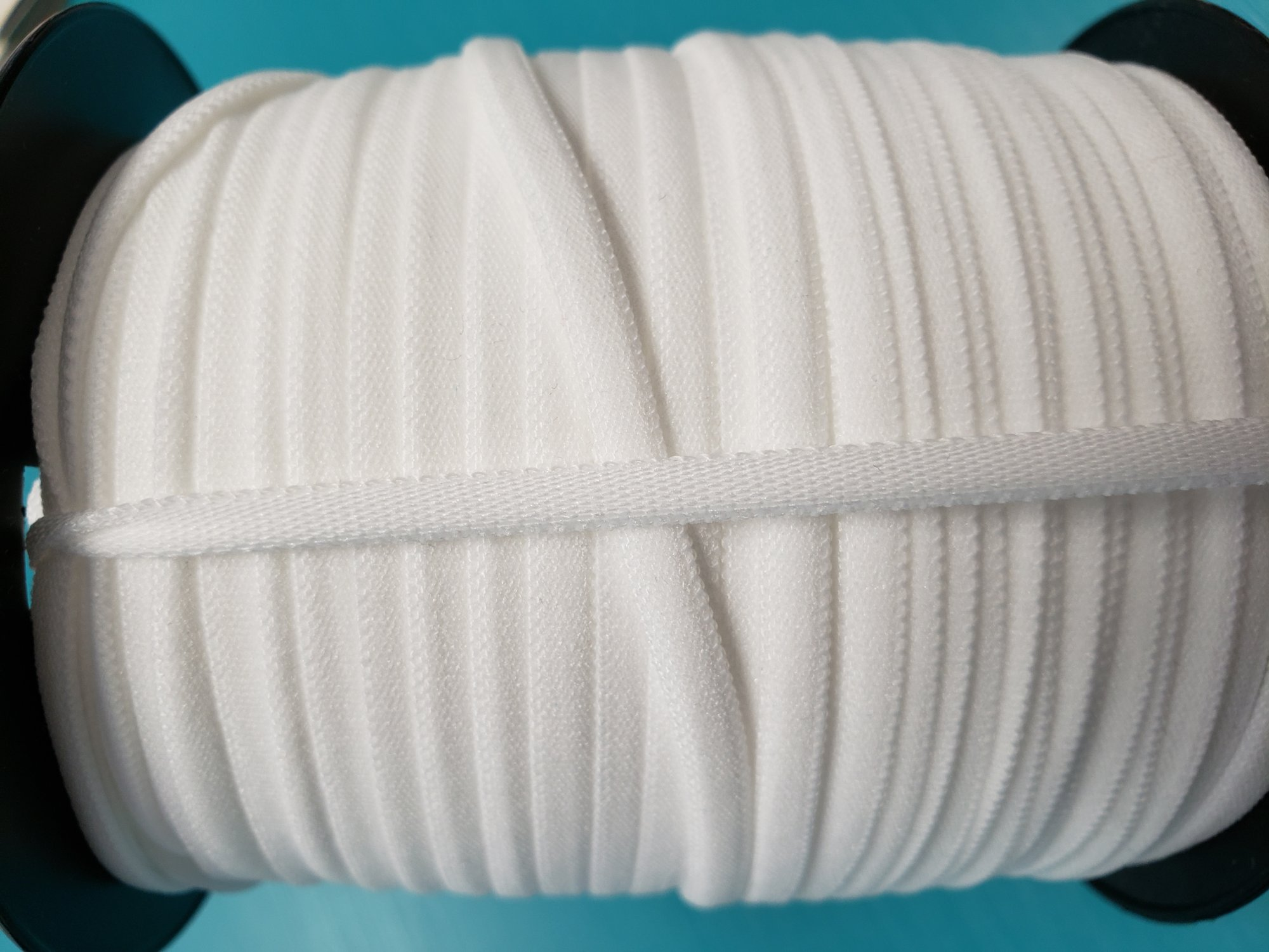 Banded Stretch Elastic 1/6 White