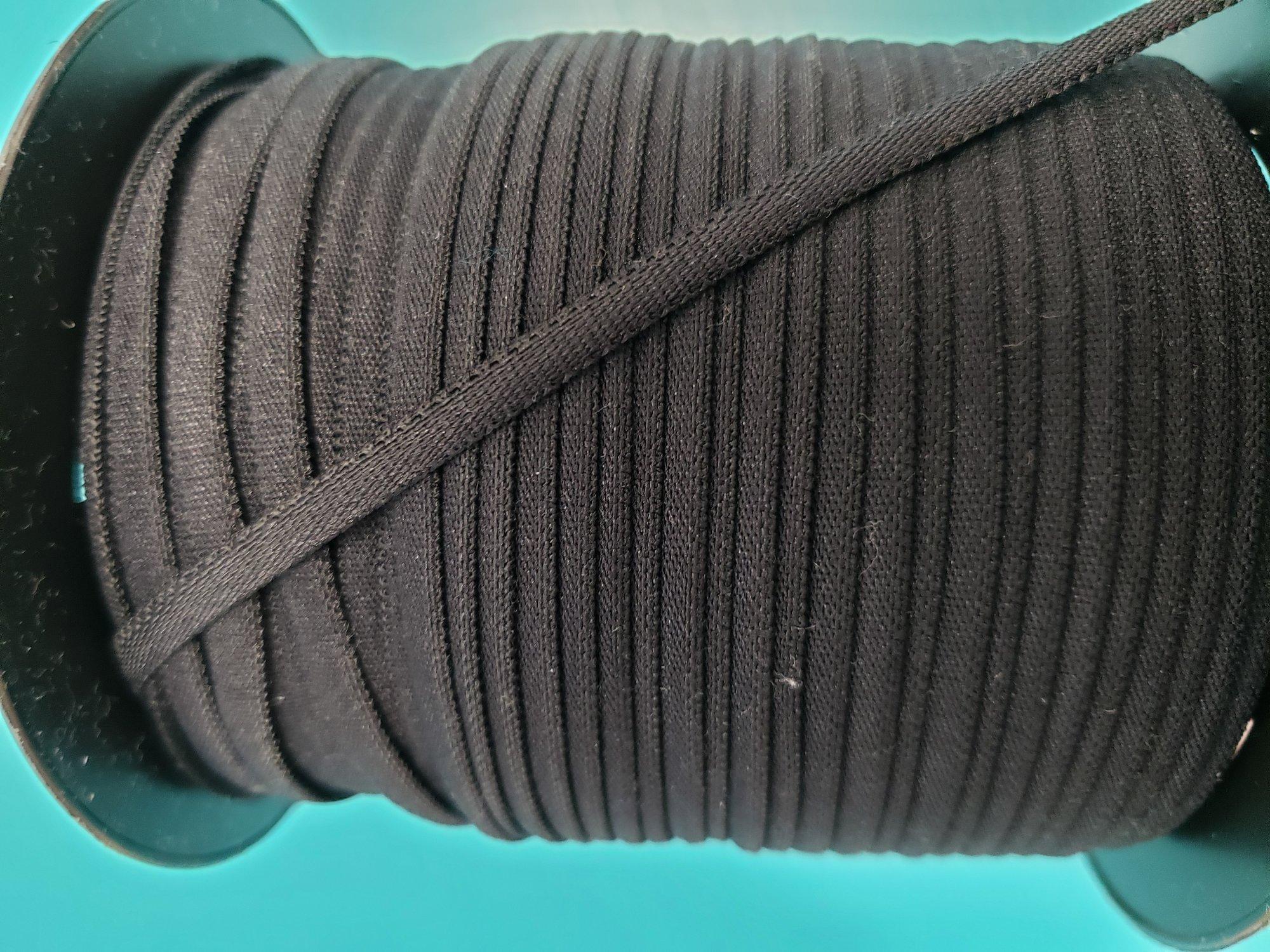 Banded Stretch Elastic 1/6 Black
