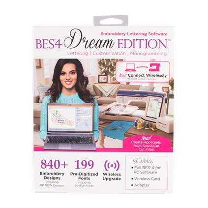 BROTHER BES4 DREAM EDITION EMBROIDERY SOFTWARE
